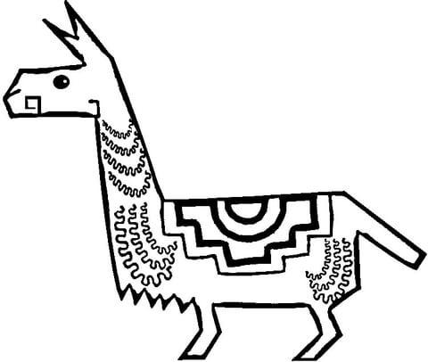 realistic llama coloring page funny llama coloring page