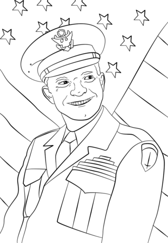 general dwight eisenhower coloring page