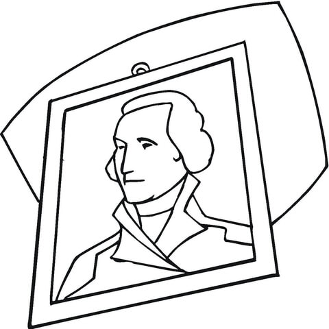 George Washington portrait Coloring page