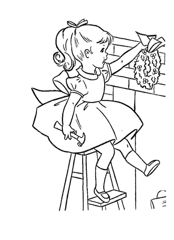 Getting Ready For Christmas  coloring page