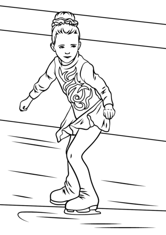 Girl Ice Skater coloring page