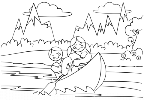 Girl Scouts Adventure coloring page - Free Printable Coloring Pages