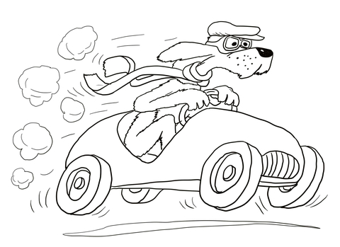 Go, Dog. Go! coloring page