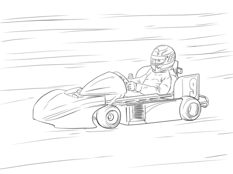 Go Kart coloring page - Free Printable Coloring Pages