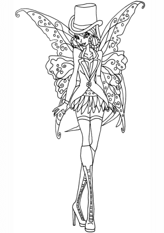 Gothic Flora coloring page