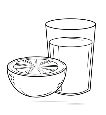 Grapefruit Juice coloring page