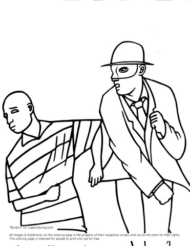 Green Hornet Fighting  coloring page