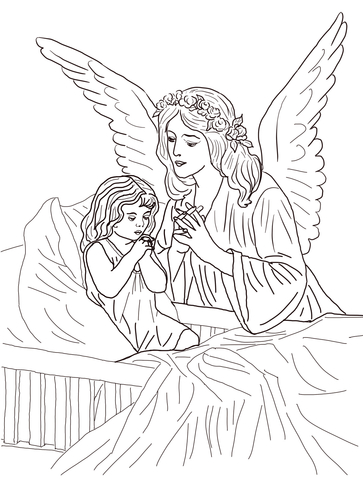 Guardian Angel Prayers coloring page