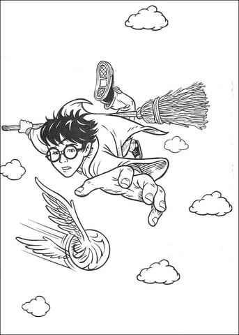 The Quidditch Game coloring page