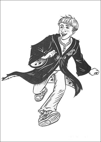 Ron coloring page