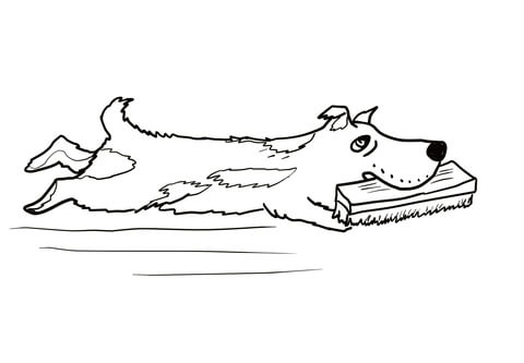 Harry the Dog coloring page