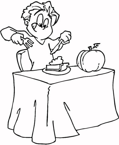 I love a Pumpkin Pie  coloring page