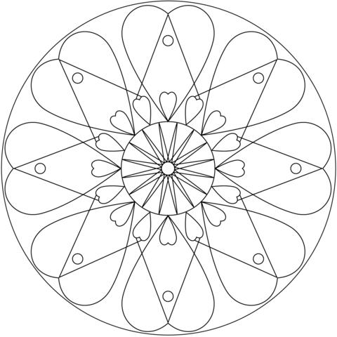 Simple Mandalas Free Printable Coloring Pages