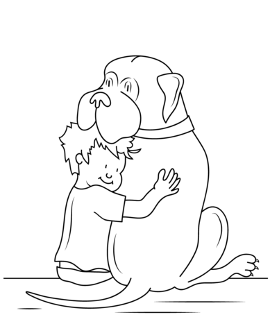Henry and Mudge coloring page