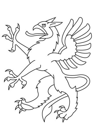 Heraldic Dragon coloring page