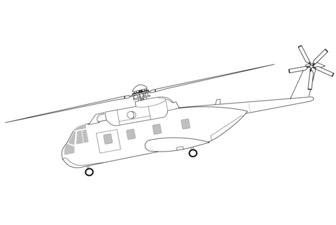 HH-3F Pelican Helicopter coloring page