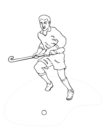 Hockey Field Player coloring page