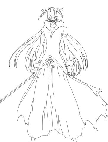 Rukia Kuchiki from Bleach 567 Cover coloring page - Free Printable ...