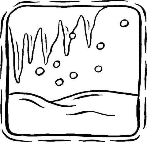 Icicles  coloring page