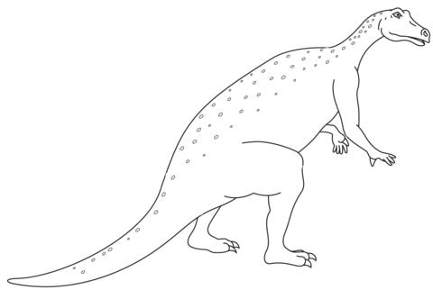 iguanodon jurassic dino coloring page