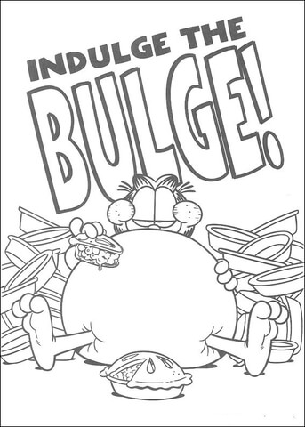 Indulge The Bulge  coloring page