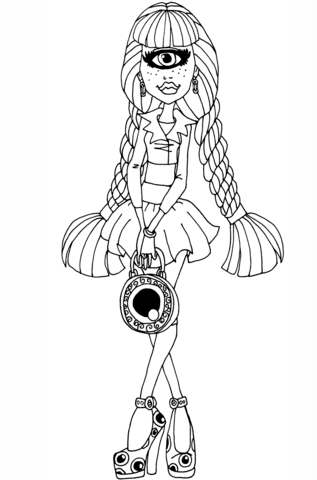 Iris Clops coloring page