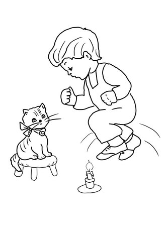 Jack be Nimble Jack be Quick coloring page