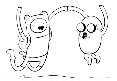 Jake and Finn coloring page