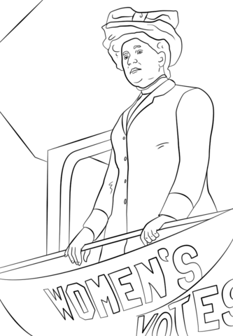 Jane Addams coloring page