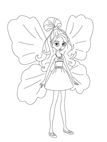 Janessa coloring page