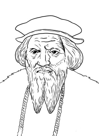 John Cabot coloring page