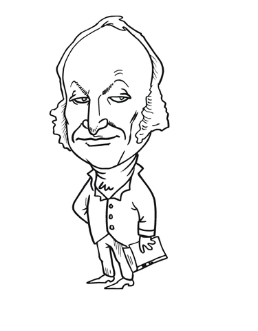 John Quincy Adams Caricature coloring page