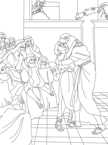 Joseph Meet Jacob coloring page - Free Printable Coloring Pages