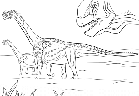 compsognathus coloring page jurassic park camarasaurus coloring page
