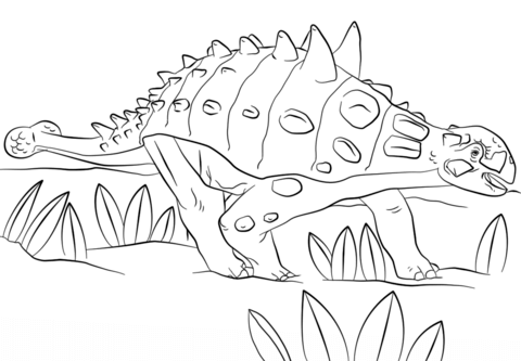 Jurassic Park Euoplocephalus coloring page