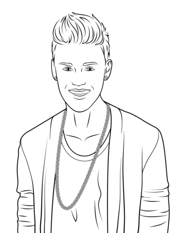 Justin Bieber coloring page - Free Printable Coloring Pages