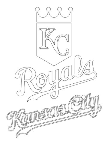 Kansas City Royals Logo coloring page - Free Printable Coloring Pages