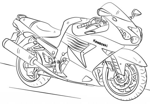Раскраска мотоцикл онлайн
