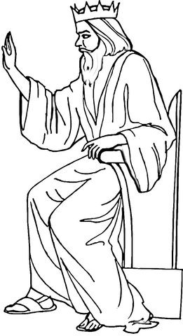 King Herod  coloring page