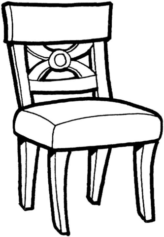 Kitchen Chair  coloring page