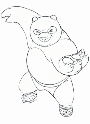 Kung Fu Panda coloring page - Free Printable Coloring Pages