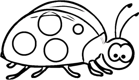 photo regarding Ladybug Printable Coloring Pages called Ladybug Smiles coloring website page - No cost Printable Coloring Internet pages