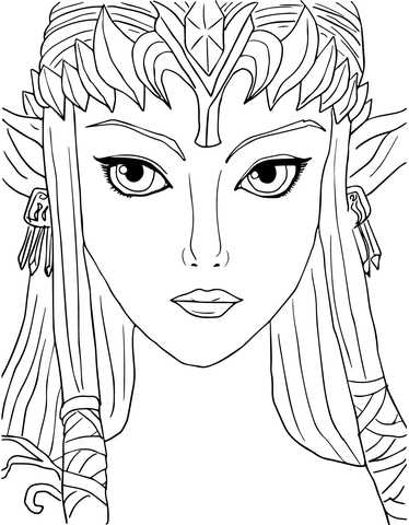 Legend of Zelda Twilight Princess coloring page - Free Printable ...