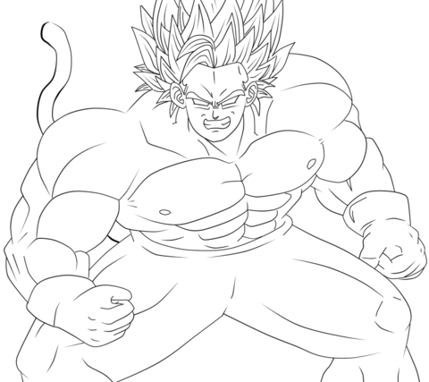 Legendary Super Saiyan  coloring page