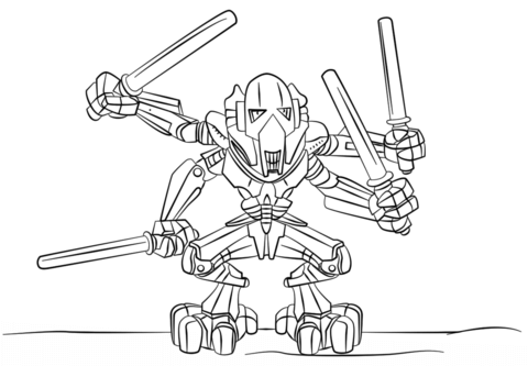 Lego Star Wars Boba Fett coloring page - Free Printable Coloring Pages