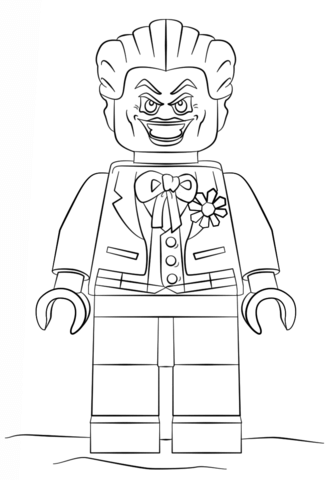 Lego Joker coloring page - Free Printable Coloring Pages