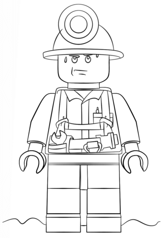 Lego Moto Police coloring page - Free Printable Coloring Pages