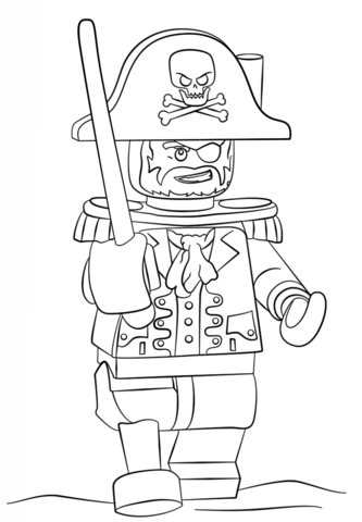 Lego Space Police coloring page - Free Printable Coloring Pages