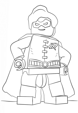 Lego Robin coloring page - Free Printable Coloring Pages