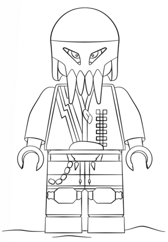 Lego Man of Steel coloring page - Free Printable Coloring Pages